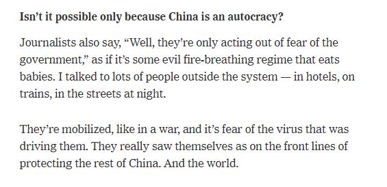 世卫组织访华专家组组长:中国的抗疫方式是可以复制的,但需要速