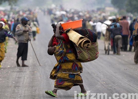 逃避战火的刚果(金)难民1
