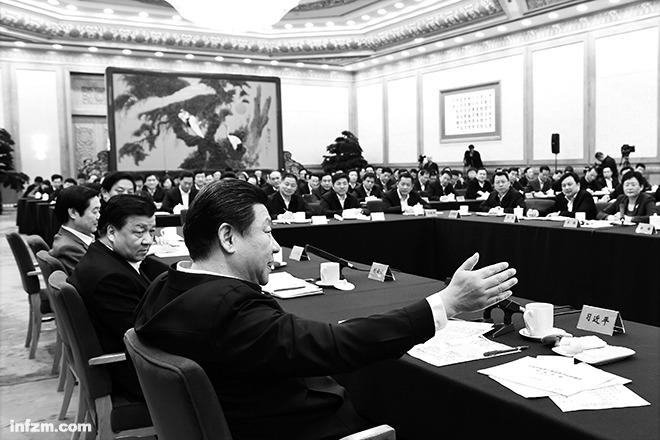 2015年1月12日,中共中央总书记、国家主席、中央军委主席习近平在