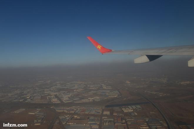 北京雾霾飞机起飞