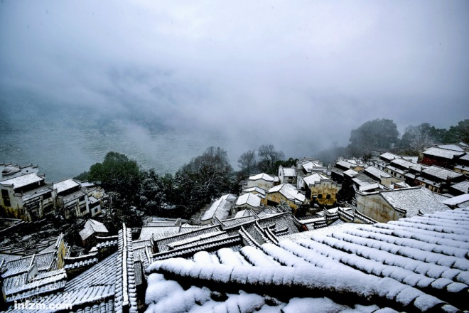 婺源這個古村,以秋天聞名,在冬天綻放