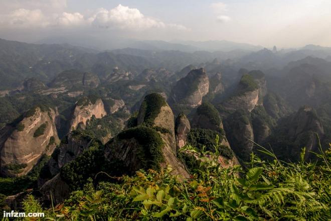 湖南崀山风景区八角寨风光.