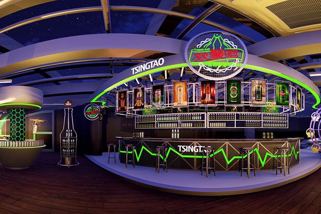 青岛啤酒720度vr全景酒吧(示意图)