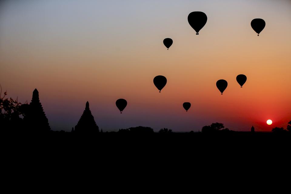 """眼睛在旅行丨""""万塔之城""""蒲甘的热气球3"""