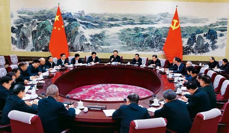 2017年12月25日至26日,中共中央政治局召开民主生活会,中共中央总书记习近平主持会议并发表重要讲话。(图自新华社)