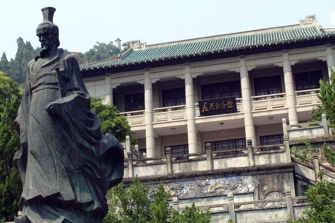 《再也听不到浩荡的江声了》长江三峡库区湖北省秭归县归州镇,屈原祠旧照。
