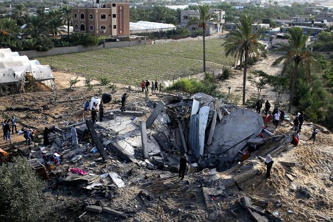 每日壹图:加沙地带|空袭中毁坏的民居