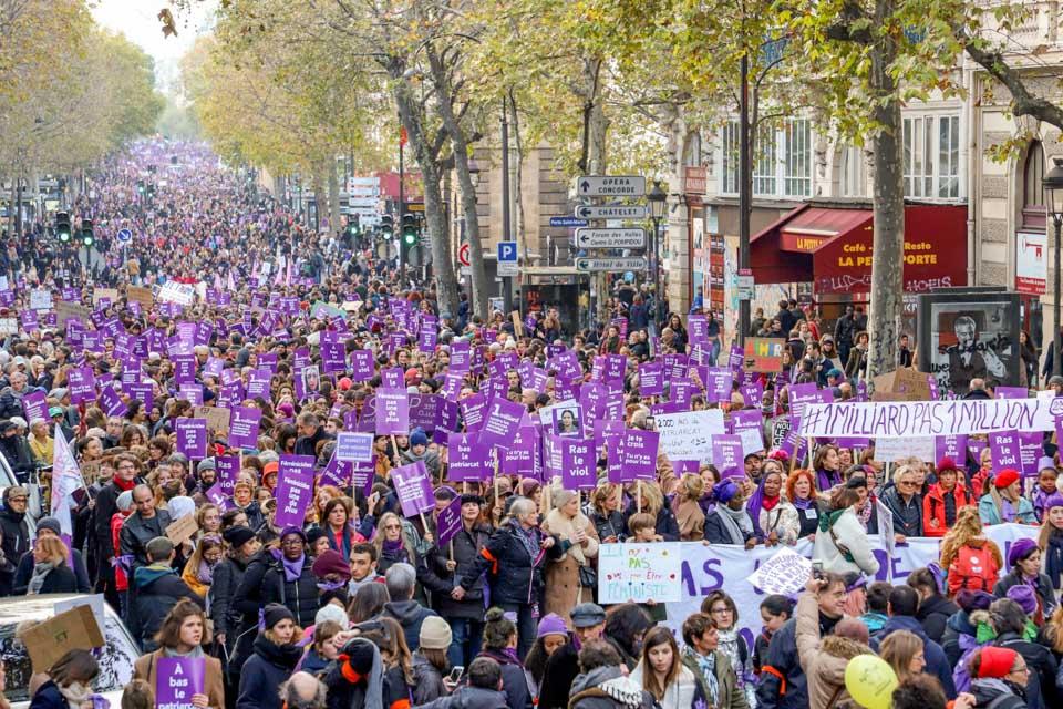 瞬間一周丨法國呼吁終結對女性暴力