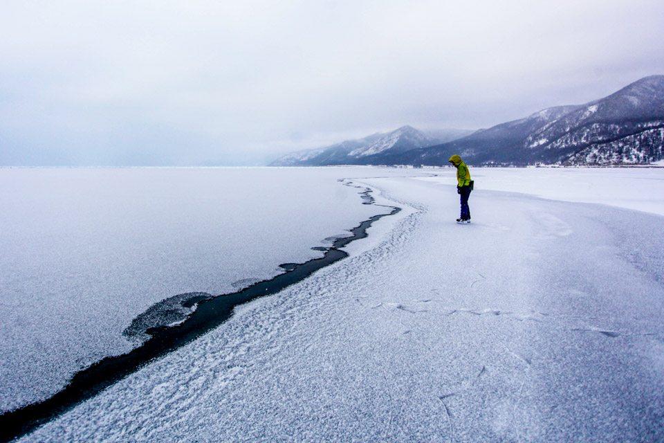 贝加尔湖的冬季