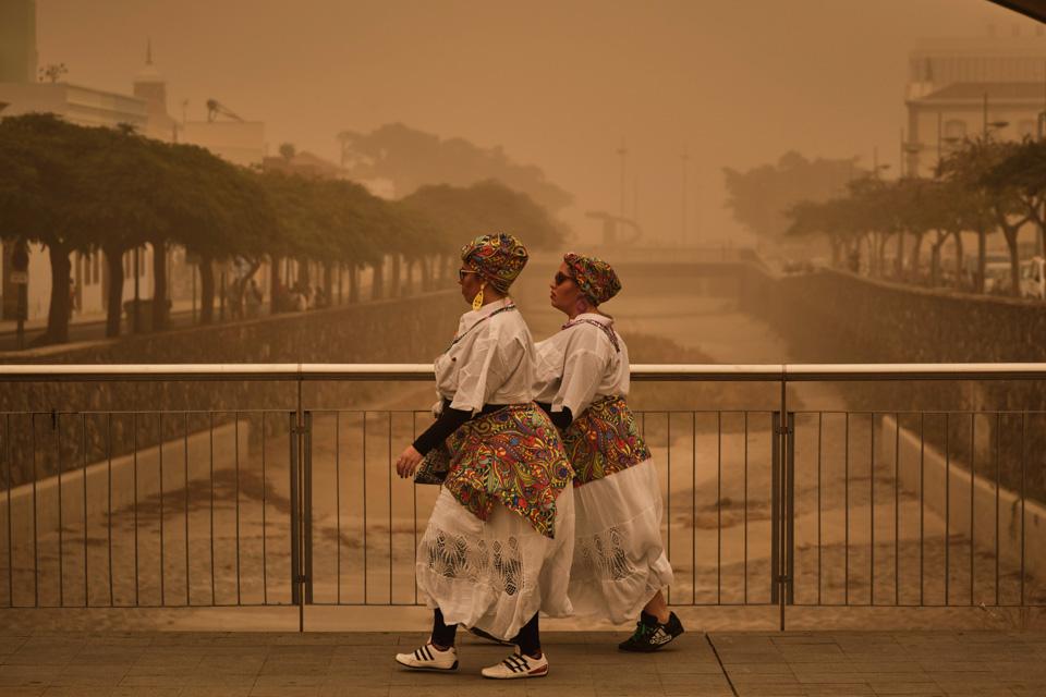 沙尘暴席卷加那利群岛