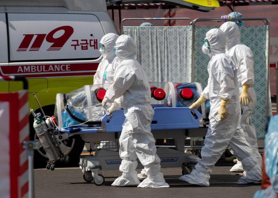 韓國疫情在大邱市集中暴發