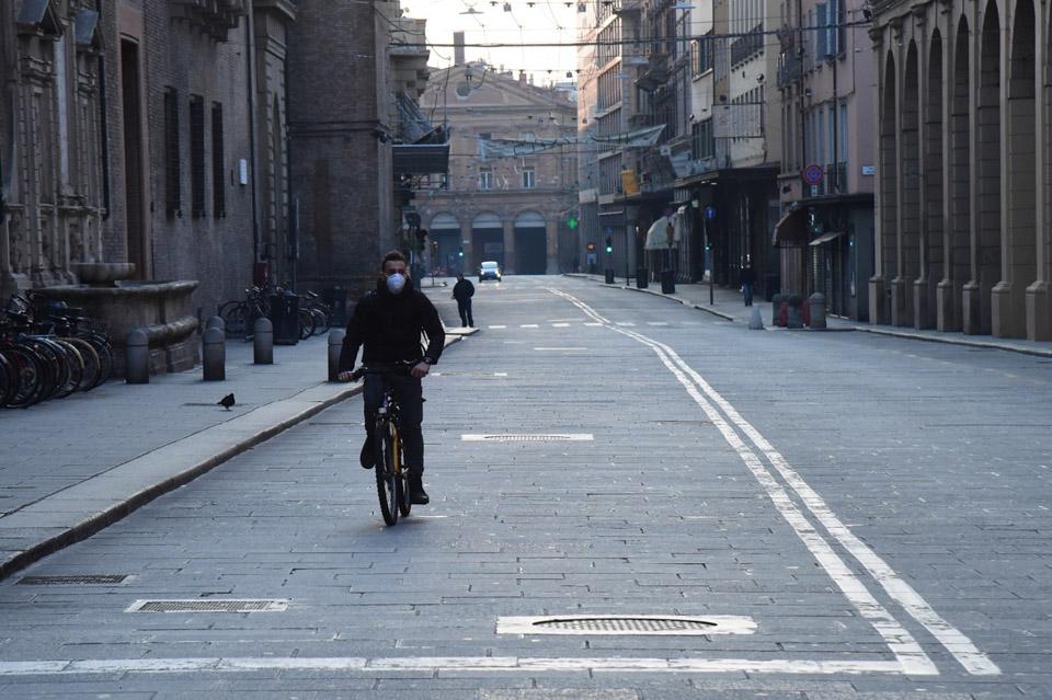 疫情之下的意大利街頭