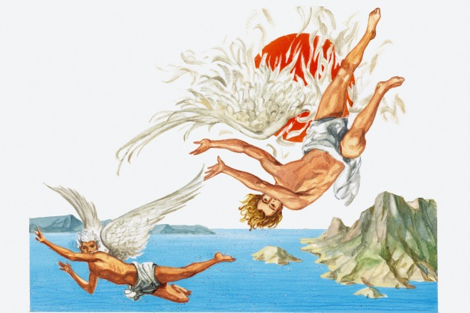 《游牧者说|偷渡者, 还是胜利者?》按照古希腊神话,伊卡洛斯和他的爹应该是人类利用飞翔偷渡的先驱。