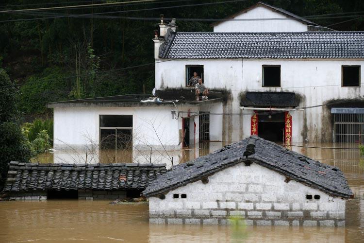 安徽黃山暴雨引發洪澇