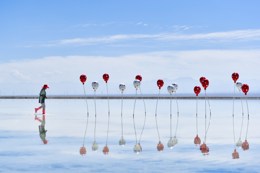 """茶卡鹽湖:青海的""""天空之鏡"""""""