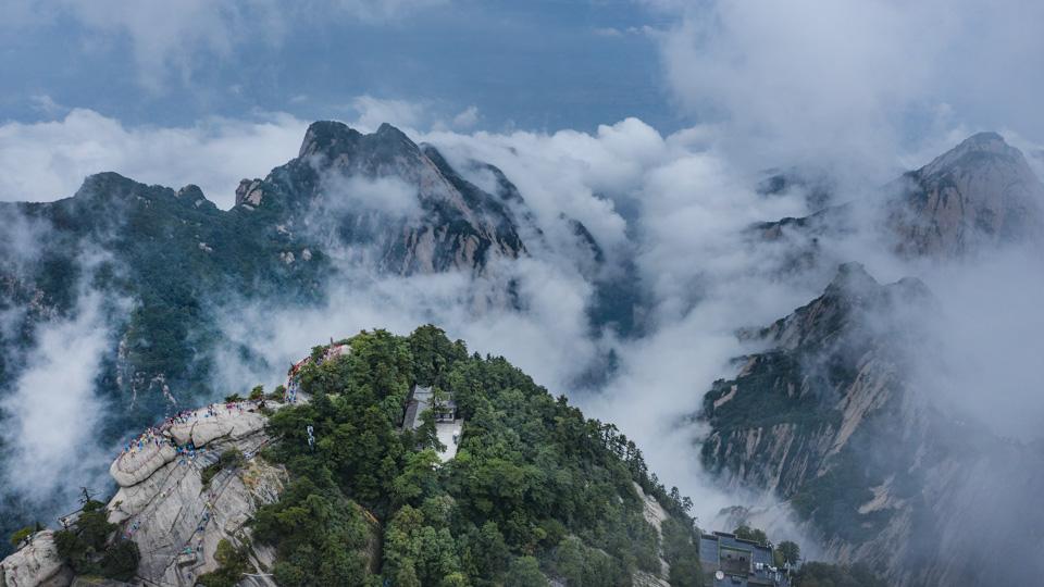 眼睛在旅行丨云雾漫华山