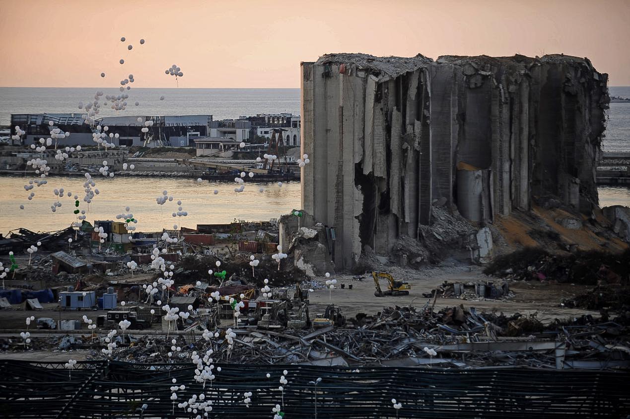 悼念贝鲁特港大爆炸遇难者