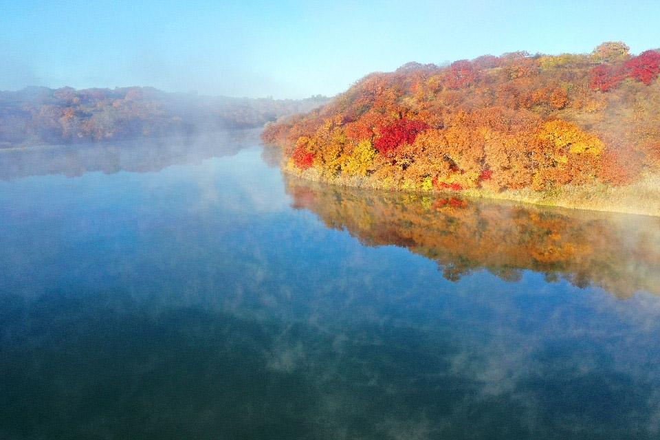 科尔沁五彩斑斓的秋日