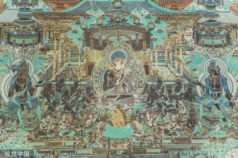 《仁慈江湖 | 当年打开北大考卷》敦煌学之堂奥深深,实在于其记录了唐之前中国文化经典典籍之原貌。图为敦煌壁画。