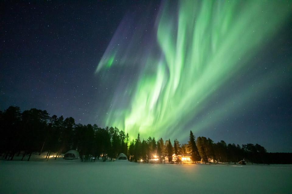 芬蘭北極光掠影