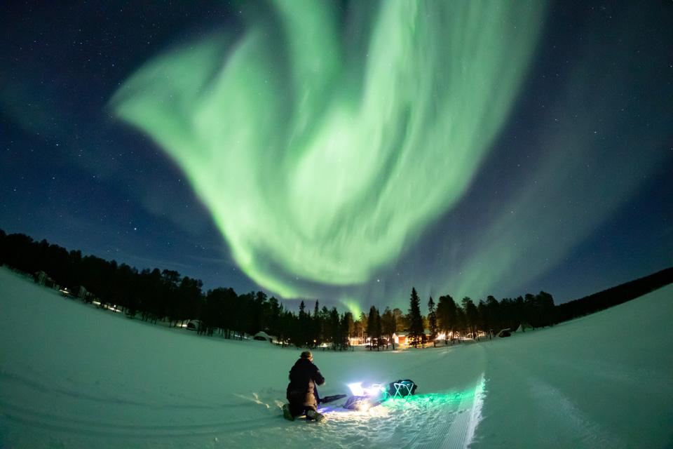 芬兰北极光掠影