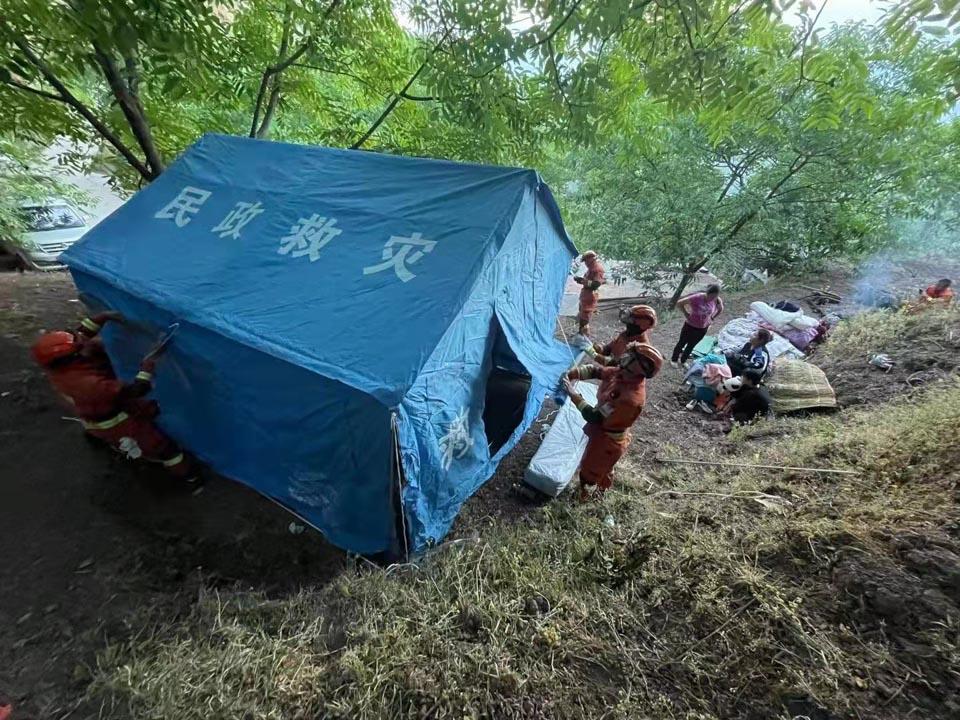 云南漾濞地震救援現場