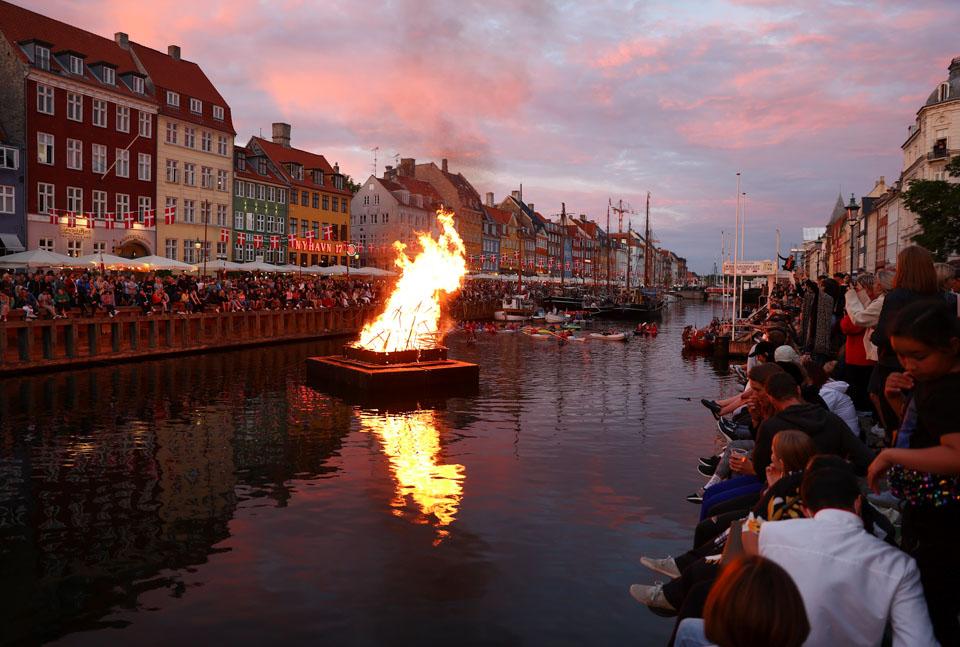 丹麥哥本哈根慶祝仲夏節