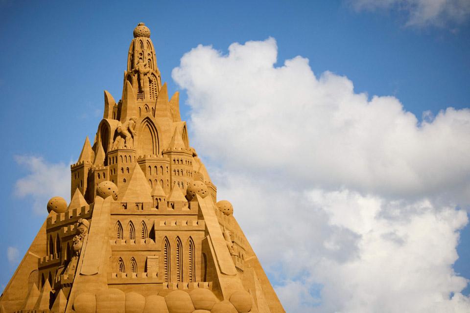 世界最高沙堡在丹麦落成