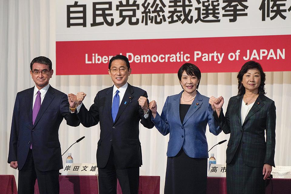 四强对决?河野太郎领跑日本自民党总裁选举