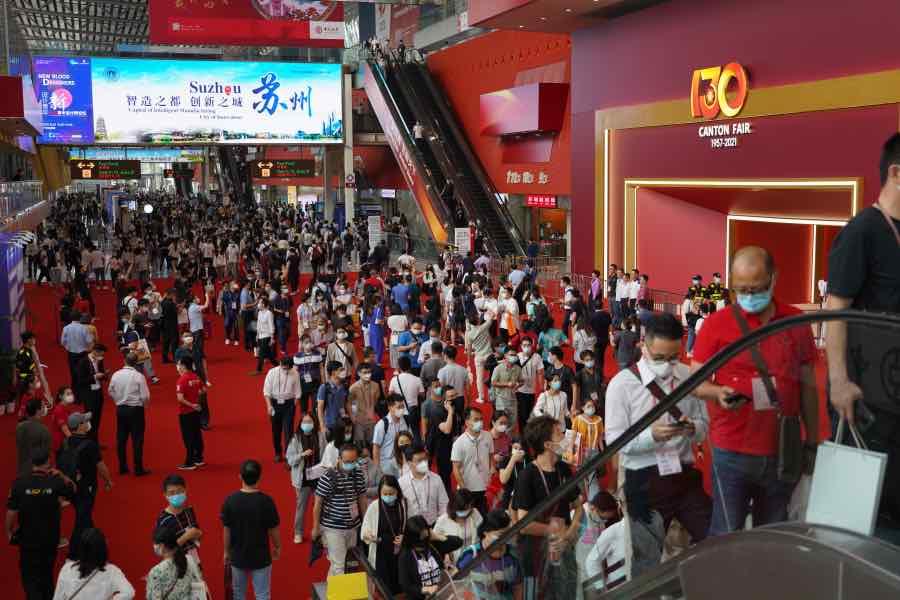 本屆廣交會線下展覽面積40萬平方米,仍然是疫情下全球規模最大的實體展會。