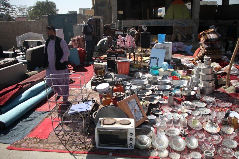阿富汗喀布爾的跳蚤市場