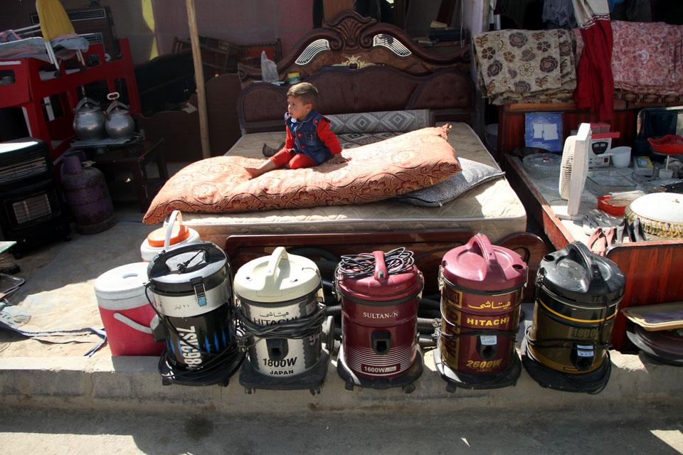 阿富汗喀布尔的跳蚤市场