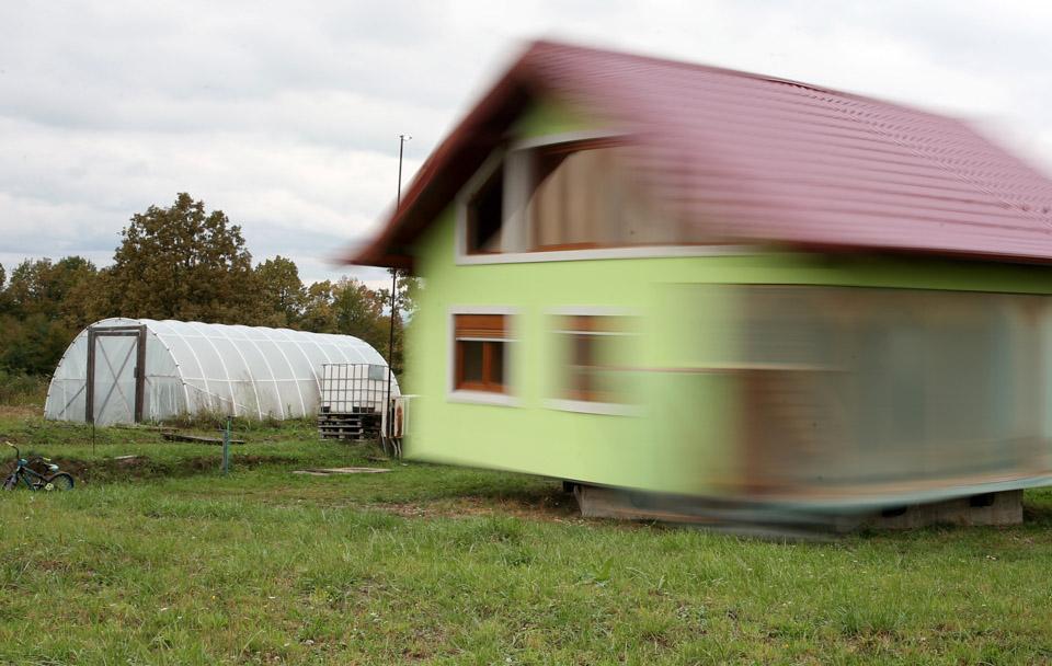 可以旋轉的房子